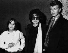 Sean Lennon, Yoko Ono and David Bowie