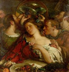 Tibullus in the House of Delia by Charles Haslewood Shannon 1900-1905 oil on canvas Nottingham Castle Museum and Art Gallery