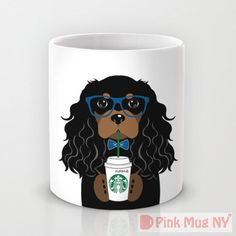 Personalized mug cup designed PinkMugNY - I love Starbucks - Cavalier King Charles Spaniel - Black & Tan by PinkMugNY on Etsy https://www.etsy.com/listing/241203413/personalized-mug-cup-designed-pinkmugny