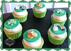 Cupcake Gallery - Kristen's Cake Creations - St. Patricks Day cupcakes with fondant toppers