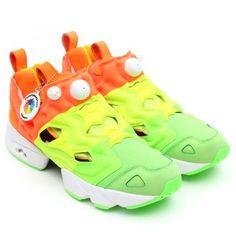 91e504af9a57 SNEAKERSNSTUFF × REEBOK PUMP FURY GREEN YELLOW ORANGE WHITE  sneaker Nike  Free