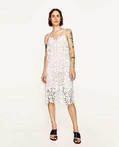 ZARA - WOMAN - STRAPPY LACE DRESS STRAPPY LACE DRESS DETAILS 2,995.00 PHP COLOR: Off-white 2731/059