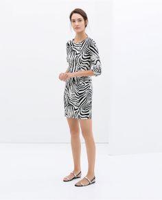 ZARA - WOMAN - ZEBRA PRINT DRESS