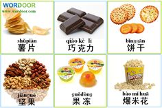 Wordoor Chinese - Snacks # Which do you like the most?
