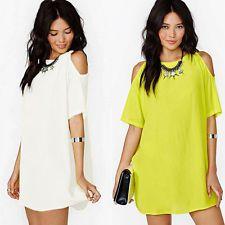 2015 Fashion Women's Loose Chiffon T Shirt Tops Short Sleeve Dress Casual Blouse