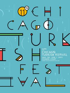 Chicago Turkish Festival by Ozan Karakoç, via Behance