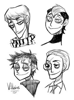 Villains Doodle by OnlyForPoM on DeviantArt Anime Vs Cartoon, Penguins Of Madagascar, Epic Characters, Dreamworks Animation, Body Reference, Character Drawing, Anime Style, Fairy Tales, Doodles
