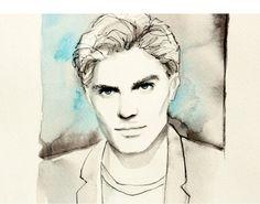 Jamie Dornan original portrait by TinfenaStudio