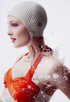 1c567f504f bonnet de bain bathing cap rubber white Badekappe