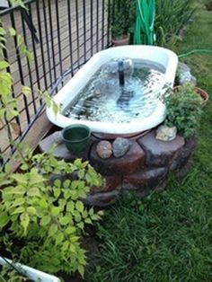 fine 33 Awesome Outdoor Junk Garden to Reuse Your Old Stuff https://matchness.com/2017/12/31/33-awesome-outdoor-junk-garden-reuse-old-stuff/