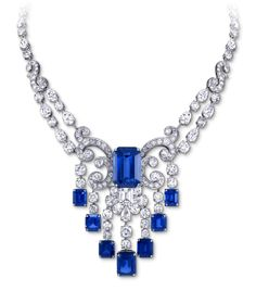 Rosamaria G Frangini | High Deepblue Jewellery GRaff EmCt Sapphire and Diam Scroll V2
