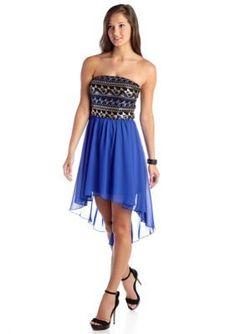 467231a9 As U Wish Sequin High Low Chiffon Dress High Low Chiffon Dress, Strapless  Dress,
