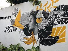Graffiti Wall Art, Murals Street Art, Mural Wall Art, Wall Drawing, Art Drawings, Starbucks Art, Wall Painting Decor, Inspirational Wall Art, Wall Art Designs