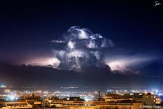 Photograph another lightning storm in Cagliari by Stefano Garau on 500px