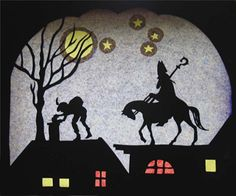 What will I get in my shoe from Sinterklaas tomorrow morning? Christmas Time Is Here, Winter Christmas, Christmas Crafts, Waldorf Crafts, Crafts With Pictures, Types Of Craft, Window Art, New Crafts, Line Drawing