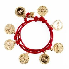 8 Sacred Names of God Kabbalah Bracelet Necklace Red Leather and Gold Coins Lucky Charms USA. $89.99. Wrap around fits any wrist. Fast reliable shipping. Available in variety of colors. Great and meaningful gift idea. High Quality Exclusive Kabbalah Jewelry