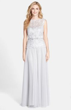 Pale Gray Lace Mother of the Bride Dress