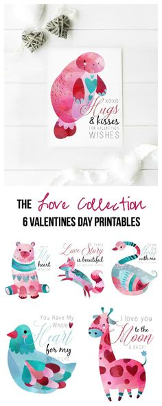 The Love Collection: 6 Valentines Day Printables