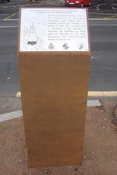 Placa grabada sobre acero inoxidable sobre soporte de acero cortén. Tertulia Amigos del 25 de Julio Ayuntamiento de Santa Cruz de Tenerife