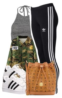 """4/26/16"" by lookatimani ❤ liked on Polyvore featuring adidas and MCM"