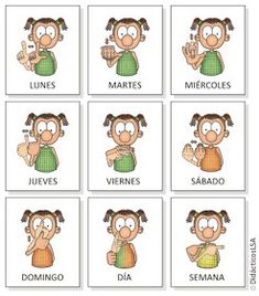 Days of the week in Argentinan Sign Language! Sign Language Book, Sign Language Alphabet, Learn Sign Language, Speech Language Therapy, Speech And Language, Deaf Sign, Libra, Braille Alphabet, Deaf Culture