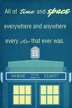 TARDIS quote - Doctor Who Photo