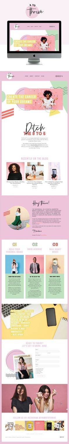 Fun and Colorful Website Design for Social Agency Website Design Inspiration, Website Design Layout, Web Design Tips, Layout Design, Website Designs, Layout Inspiration, Design Ideas, Website Ideas, Banner Design