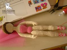 crocheted ballerina, not english - could be a barbie stand-in - based on Elsbeth Doll by Gourmet Crochet
