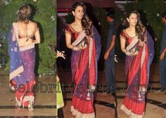 Gauri Khan Saree at $99 with FREE shipping offer. Only at www.buyindianwear.com