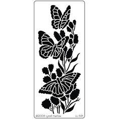 "Dreamweaver Metal Stencil 5""x7.875"" - Three Butterflies - Click to enlarge"