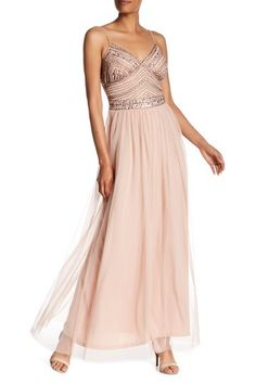 20a4ca2782b Image of Marina Embellished Beaded Bodice Gown