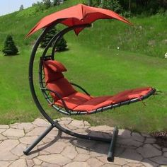 The Sunnydaze Floating Chaise Lounge Chair Is A Favorite For Its Bright  Color, Unique Design