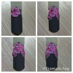 Super Cute Ideas for Summer Nail Art - Nailschick 3d Acrylic Nails, Acryl Nails, 3d Nail Art, 3d Nails, Stone Nail Art, 3d Flower Nails, 3d Nail Designs, Sculpted Nails, Nail Art Techniques