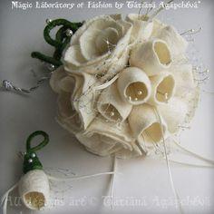 Mariages Rétro: Bouquets originaux et créatifs... sans fleurs