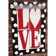 LOVE Valentine Door Hanger Sign by SparkledWhimsy on Etsy, $39.00