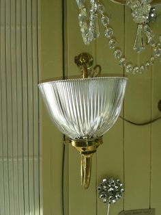 victorian light fixtures | beautiful pair of mid Victorian brass wall lights with fluted glass ...