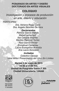 11174706_10152966565603271_2358424546551069662_o http://lasdisidentes.com/2015/04/30/investigacion-y-produccion-en-arte-diseno-y-educacion/
