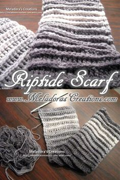 Your place to learn how to Crochet the Riptide Crochet Scarf for FREE. by Meladora's Creations - Free Crochet Patterns and Video Tutorials