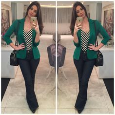 How to rock the casual chic look Work Fashion, Fashion Looks, Fashion Outfits, Hijab Fashion, Work Casual, Casual Chic, Look Office, Look Blazer, Casual Blazer