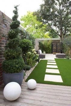 Back Garden Design, Small Backyard Design, Modern Garden Design, Backyard Patio Designs, Small Backyard Landscaping, Landscaping Ideas, Garden Design Ideas, Patio Ideas, House Garden Design