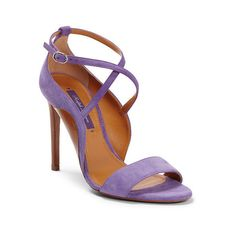 Ralph Lauren Blana Suede Sandal ($204) ❤ liked on Polyvore featuring shoes, sandals, open toe high heel sandals, ralph lauren sandals, ralph lauren footwear, open toe sandals and high heel sandals
