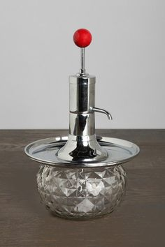 iSalivate Vintage Red-Topped Glass Decanter  #UrbanOutfitters