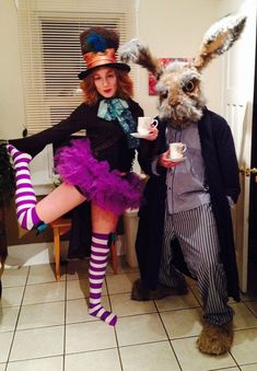 Mad Hatter and The March Hare Couples Halloween Costume   #Alice #In #Wonderland