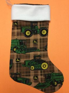 A personal favorite from my Etsy shop https://www.etsy.com/listing/259481050/handmade-christmas-stocking-john-deere