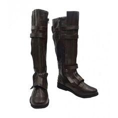 Telacos Star Wars Jedi OBI-Wan Kenobi Cosplay Shoes Brown Boots Custom Made