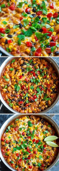Putting a tasty vegetarian dinner on the table just got a whole lot easier! This healthy one-pot enchilada pasta is quick, easy, and ready to rock your plate in just 30 minutes!