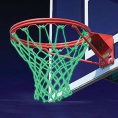 Glow In The Dark Basketball Net  Keep balling even after the lights get shut off at the court with the glow in the dark basketball net. The net snaps with every shot, fits any regulation size rim, and is designed to stand up against all outside weather conditions.