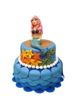 Mermaid theme cake by The Dapper Dipper