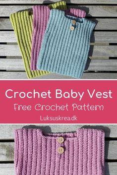 Crochet Baby Vest - Luxury Scarf - Crochet and knit- Crochet baby vest Baby Boots Pattern, Crochet Vest Pattern, Baby Knitting Patterns, Baby Patterns, Crochet Patterns, Scarf Crochet, Crochet Bebe, Crochet For Boys, Bernat Baby Yarn