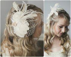 Ivory Bridal Fascinator Vintage Inspired by somethingjeweled, $155.00